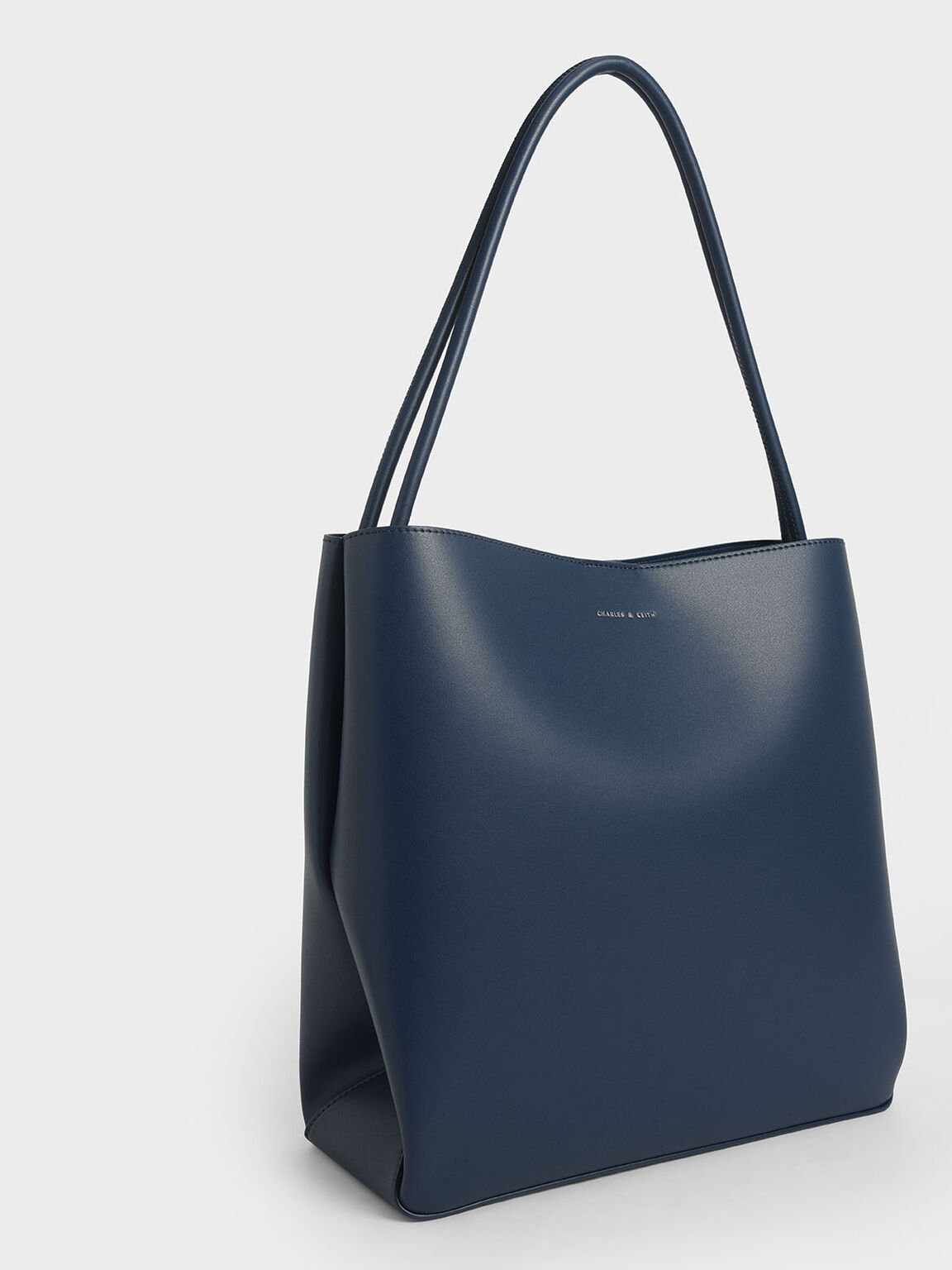 Double Handle Tote Bag, Blue, hi-res