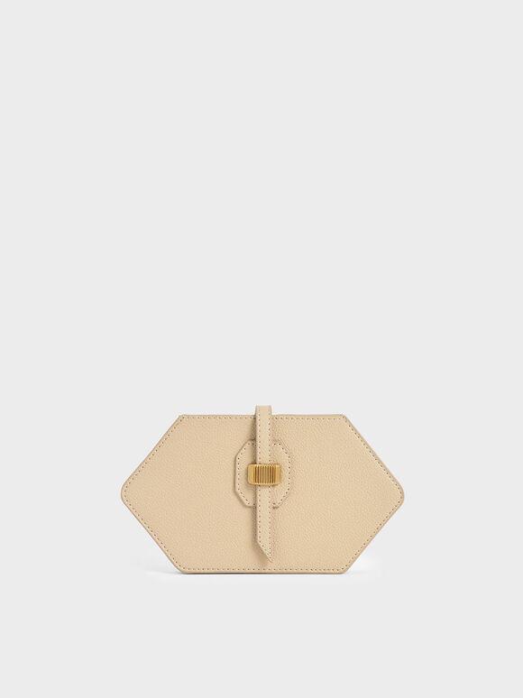 Hexagon Card Holder, Ivory, hi-res