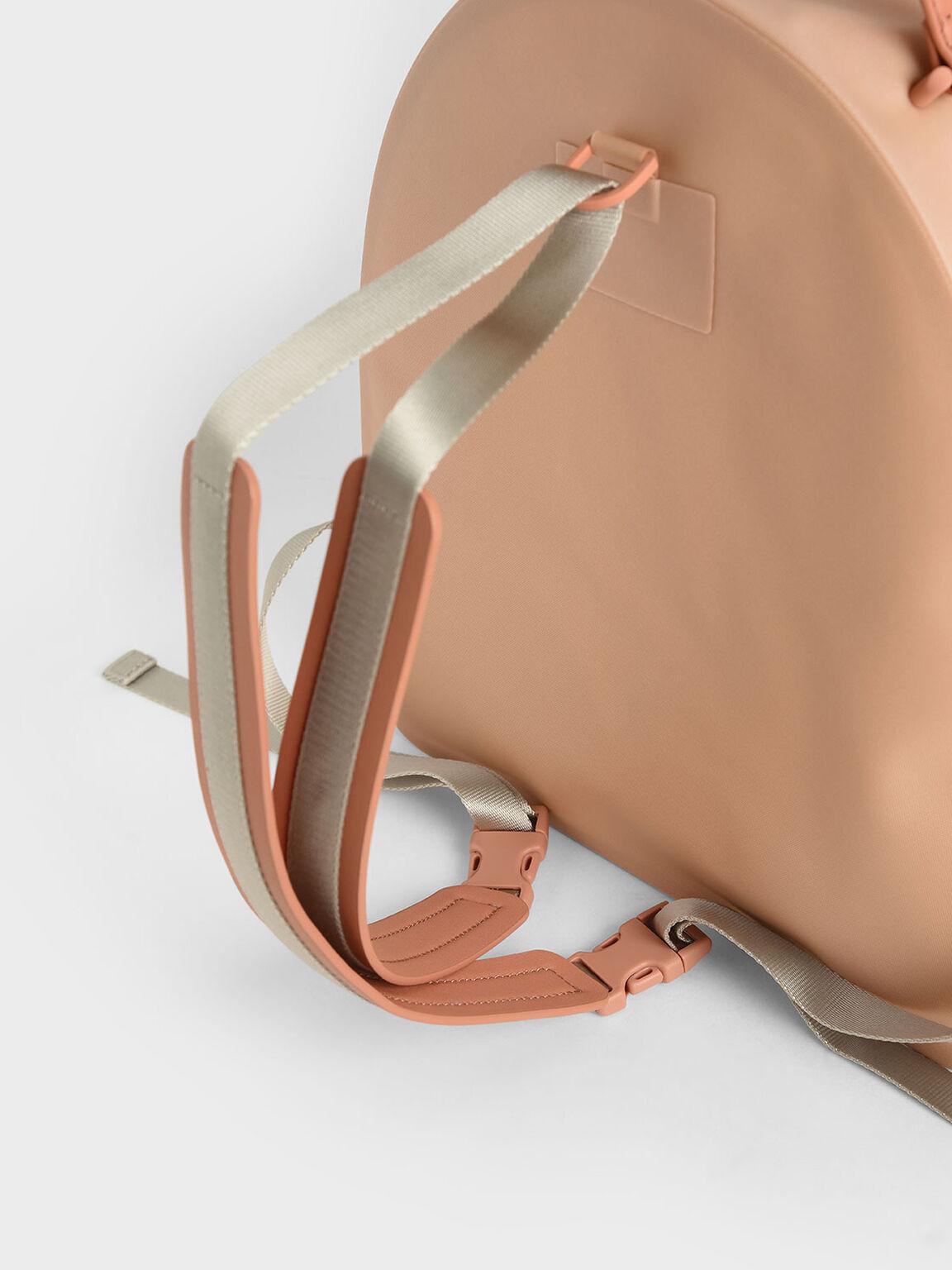 Front Zip Backpack, Nude, hi-res