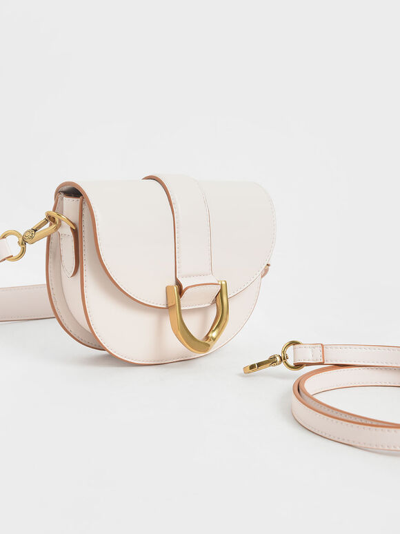 Mini Gabine Saddle Bag, Pink, hi-res