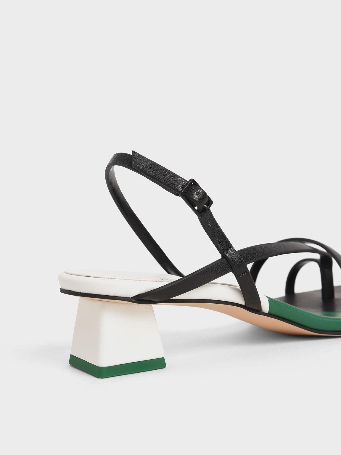 Strappy Slingback Sandals, Multi, hi-res