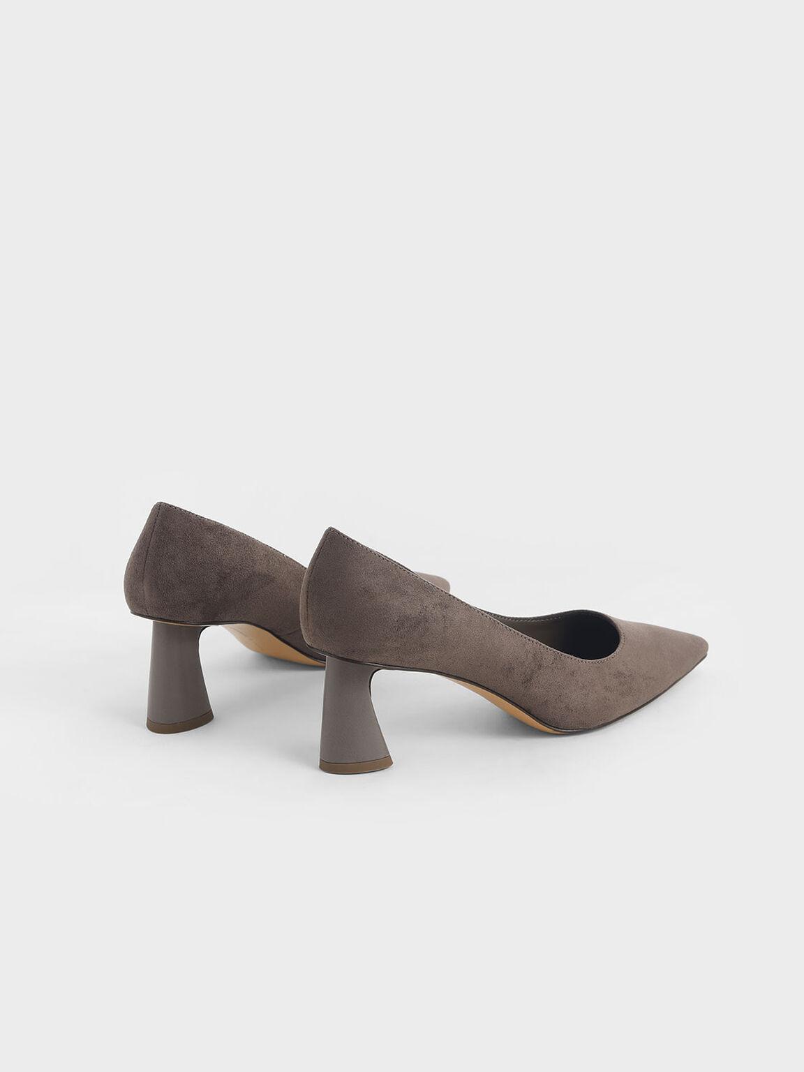 Textured Sculptural Heel Pumps, Taupe, hi-res