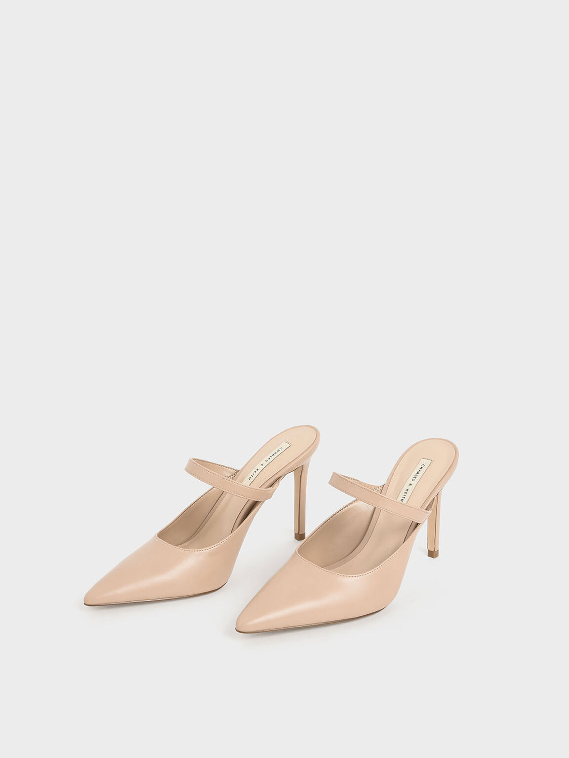 Mary Jane Stiletto Heel Mules, Nude, hi-res