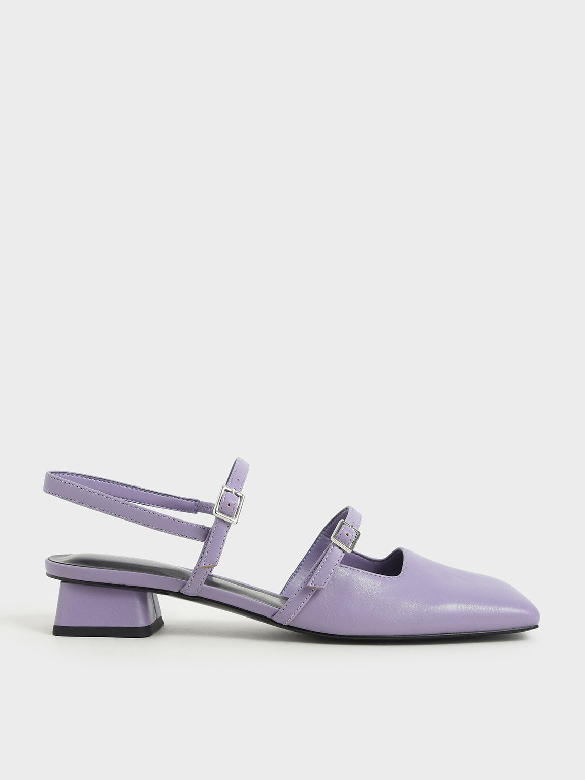 Square Toe Mary Janes, Lilac, hi-res
