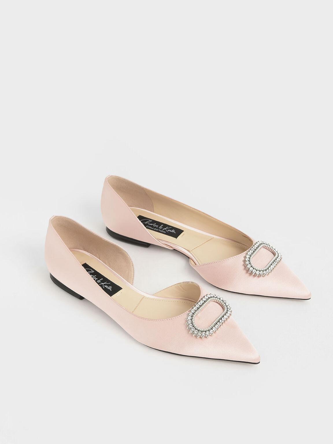 Wedding Collection: Embellished Ballerina Flats, Pink, hi-res