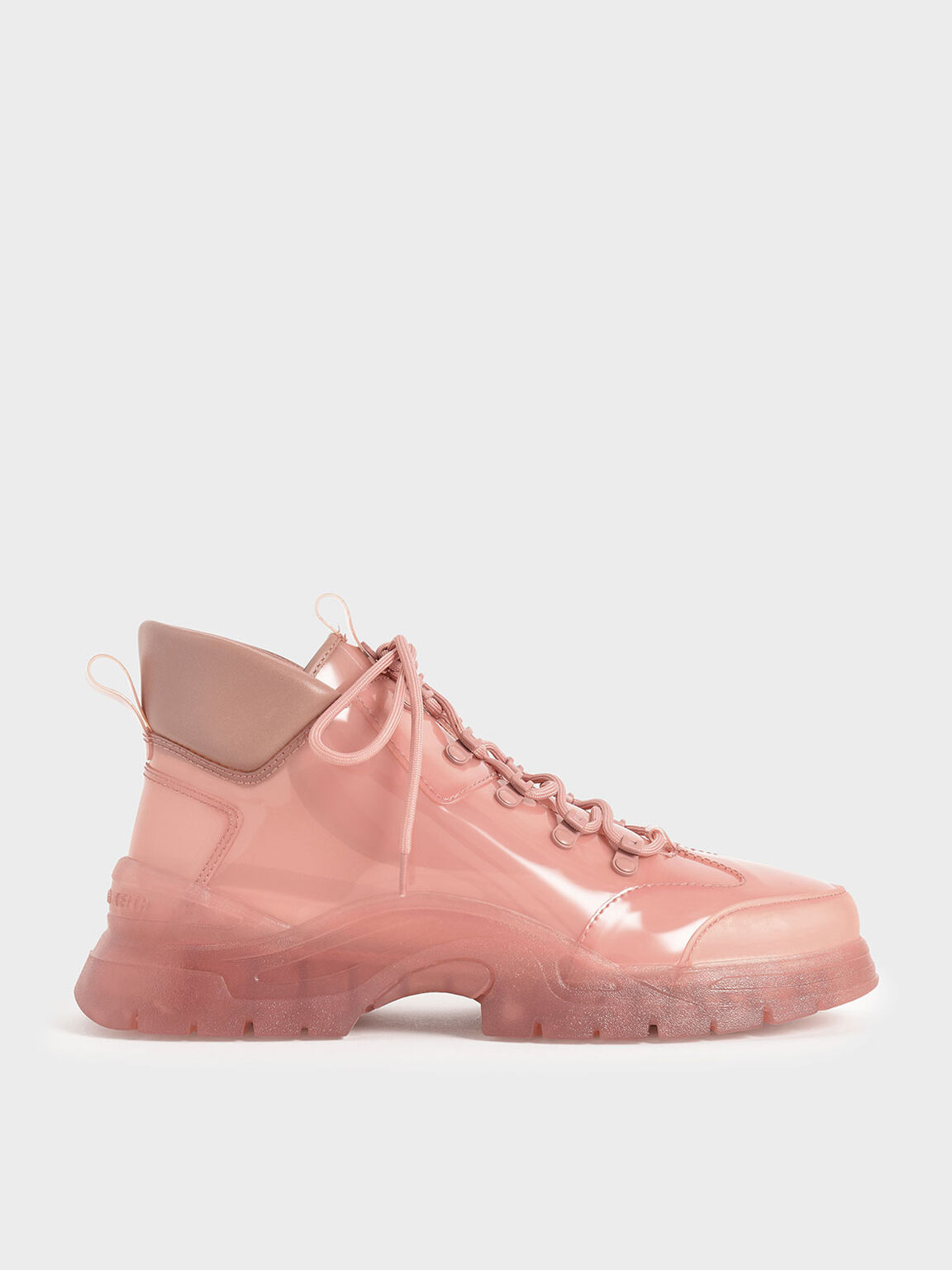 Chunky High Top Trainers, Blush, hi-res