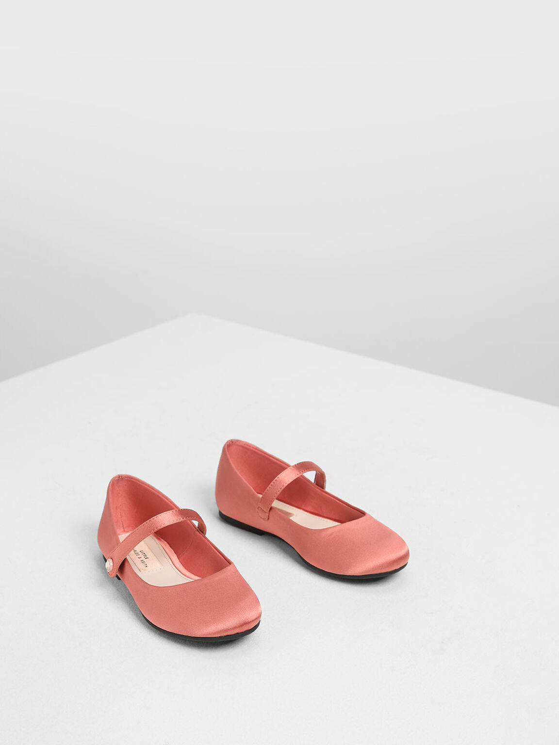 Kids' Classic Mary Janes, Coral Pink, hi-res