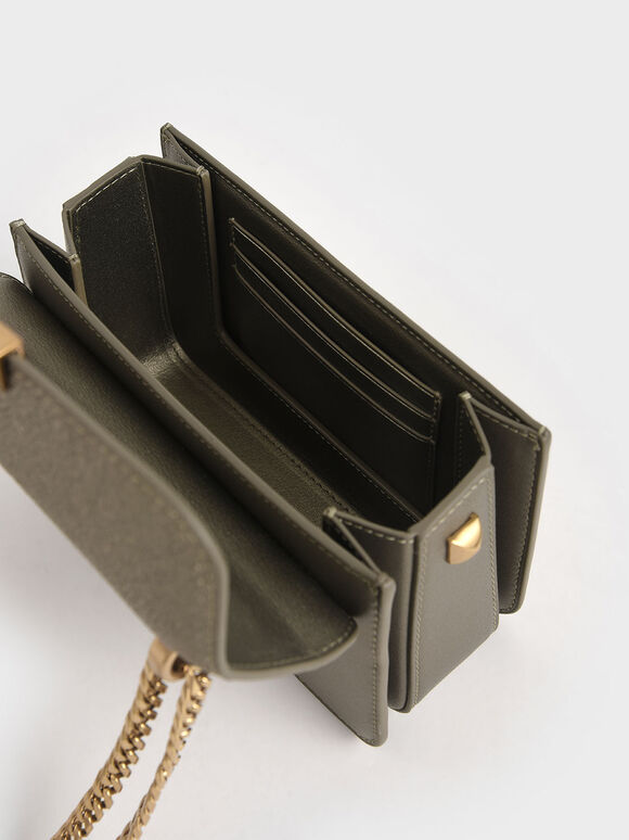 Woven Push-Lock Crossbody Bag, Bronze, hi-res