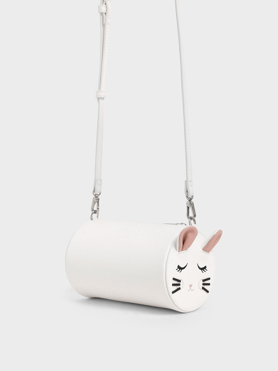 'Rat Zodiac' Cylindrical Bag, White, hi-res
