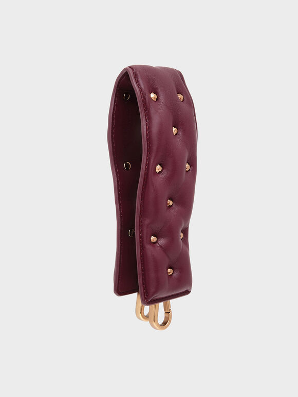 Embellished Wide Mini Strap, Prune, hi-res