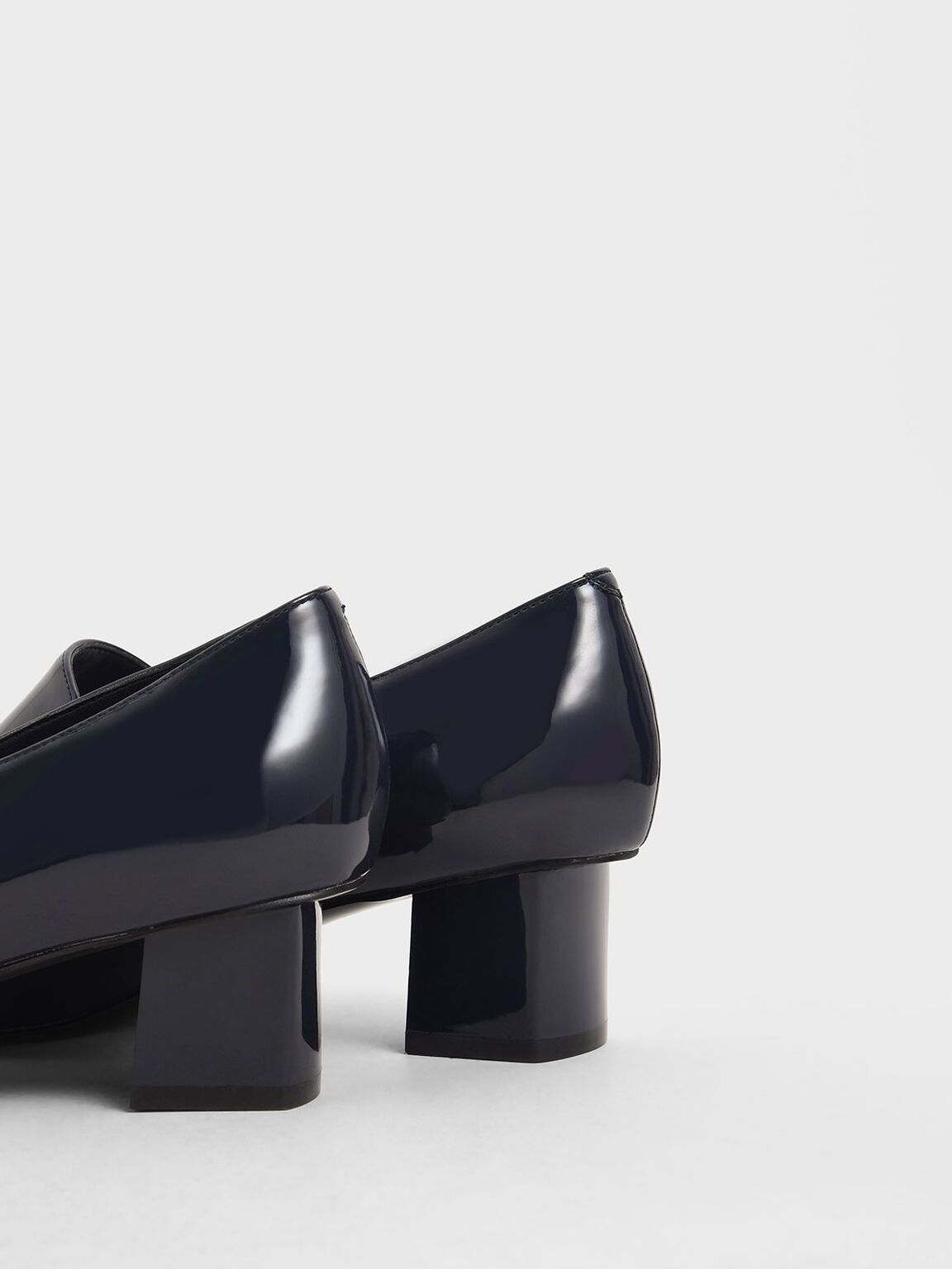 Patent Pointed Toe Loafers, Dark Blue, hi-res