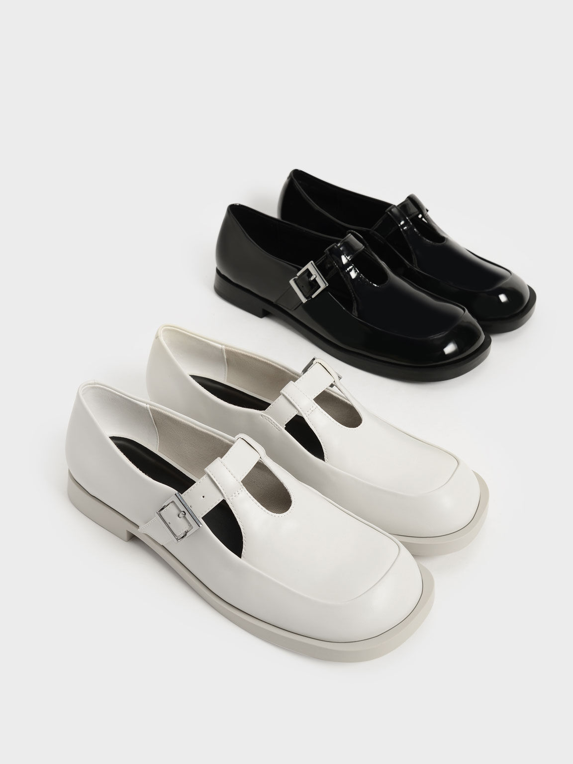 Mary Jane Buckle Loafers, Chalk, hi-res