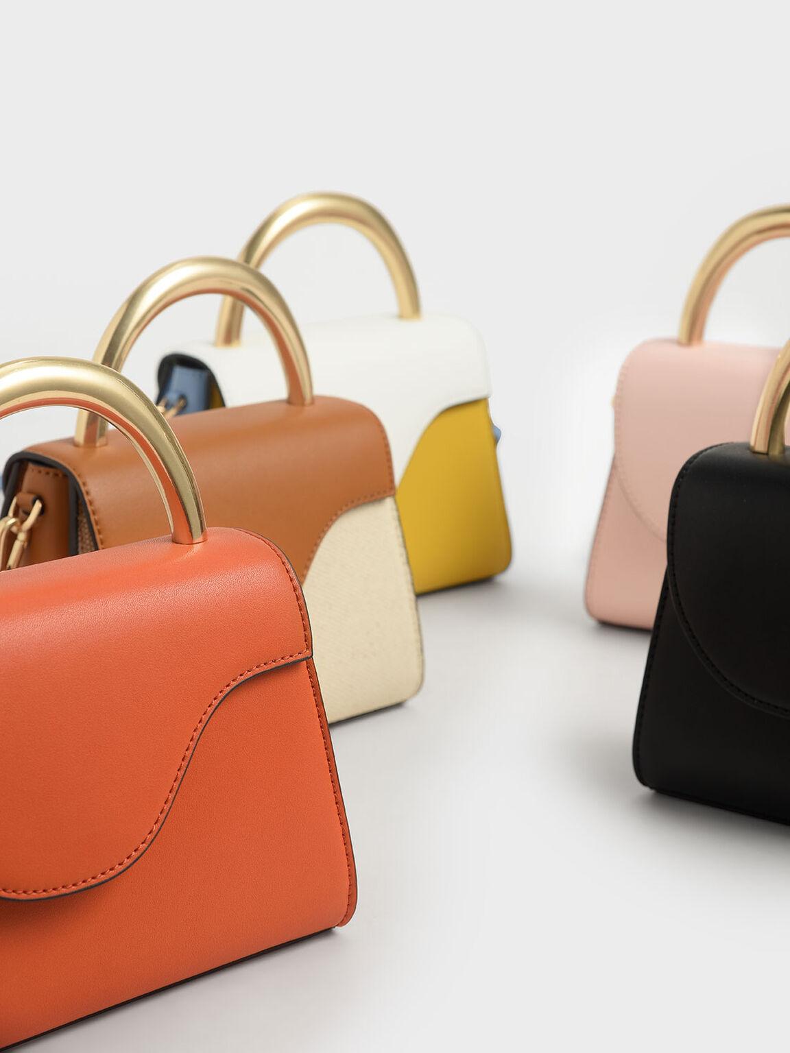 Angular Flap Bag, Pink, hi-res
