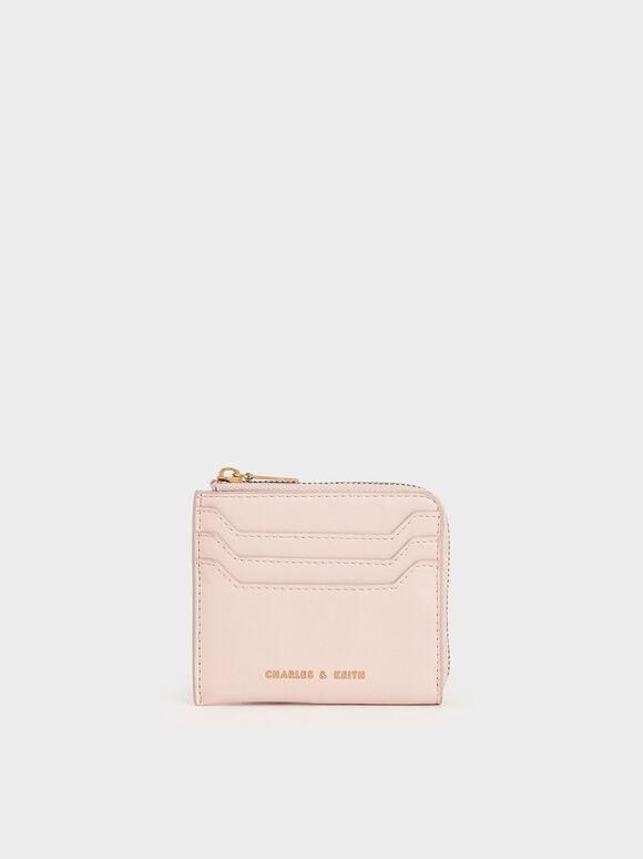 Zip Around Card Holder, Light Pink, hi-res