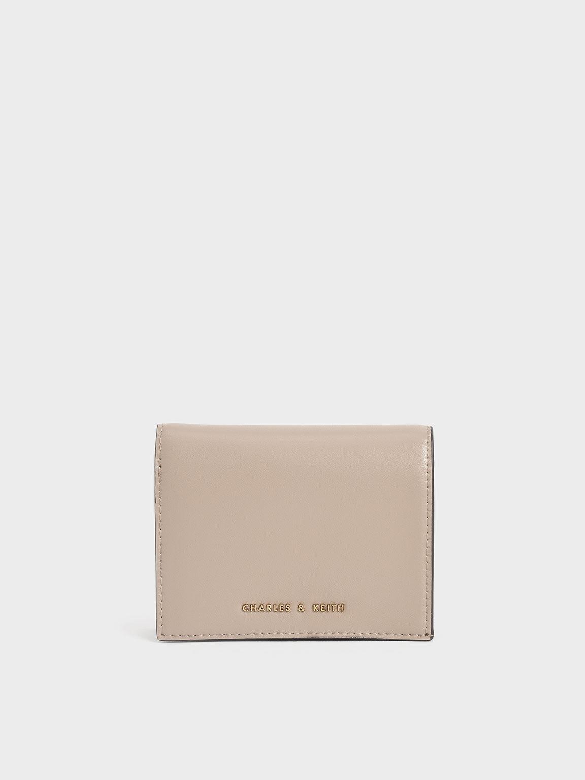 Snap Button Mini Short Wallet, Sand, hi-res