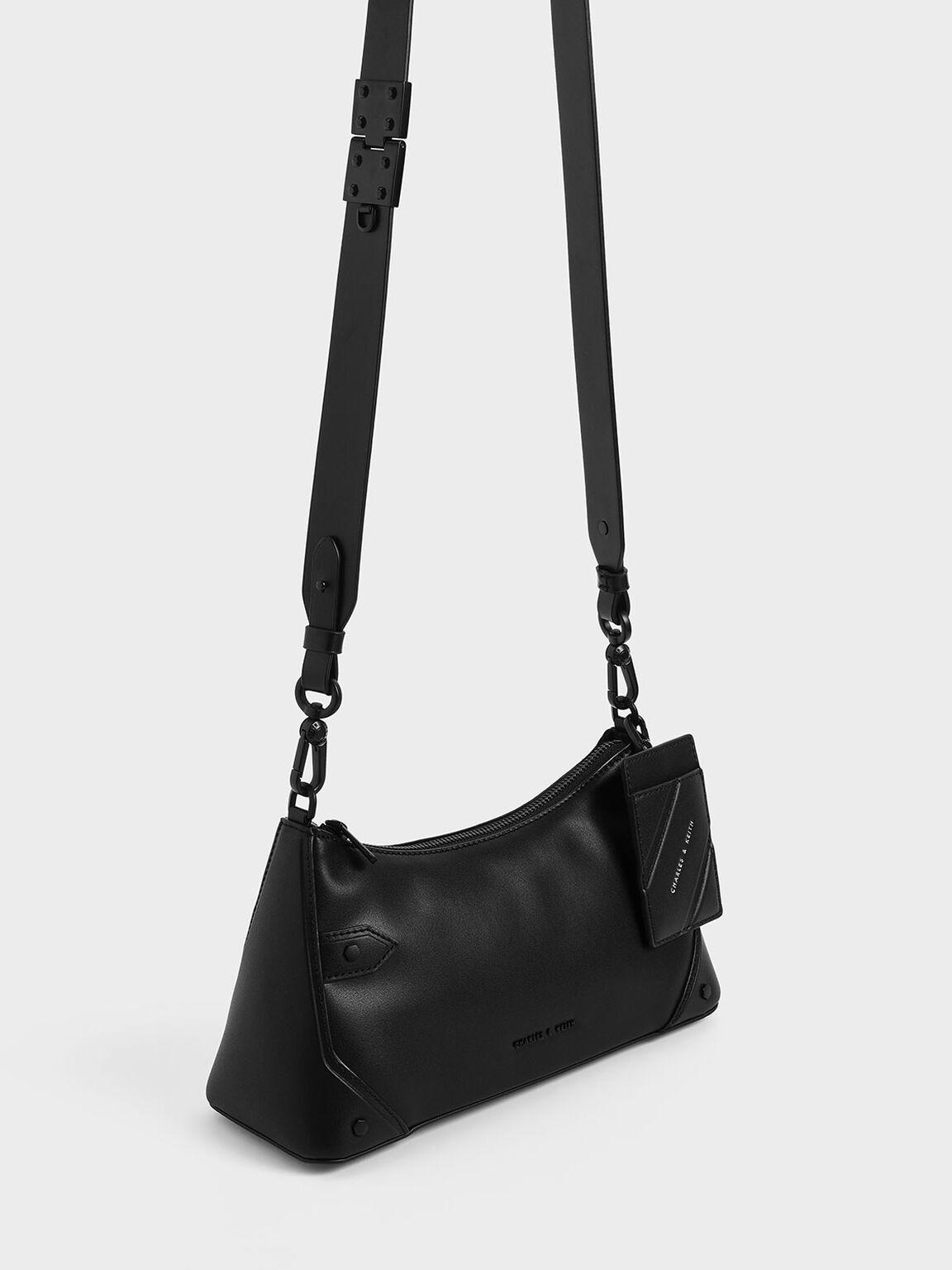 Chain Handle Bag, Ultra-Matte Black, hi-res