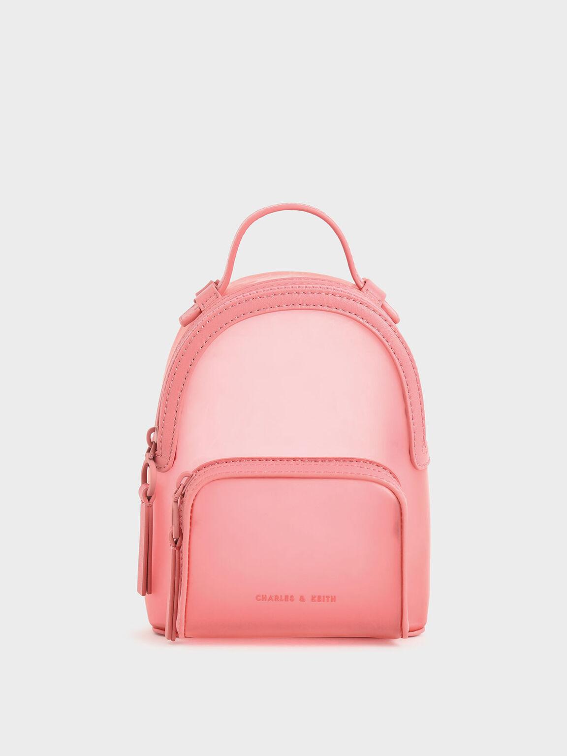 See-Through Backpack, Pink, hi-res