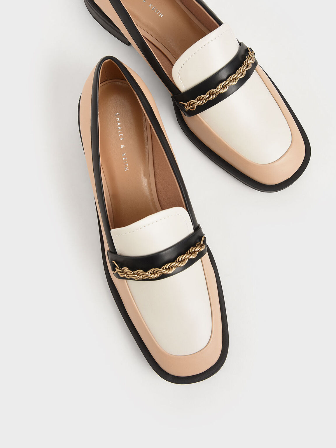 Metallic Accent Penny Loafers, Multi, hi-res