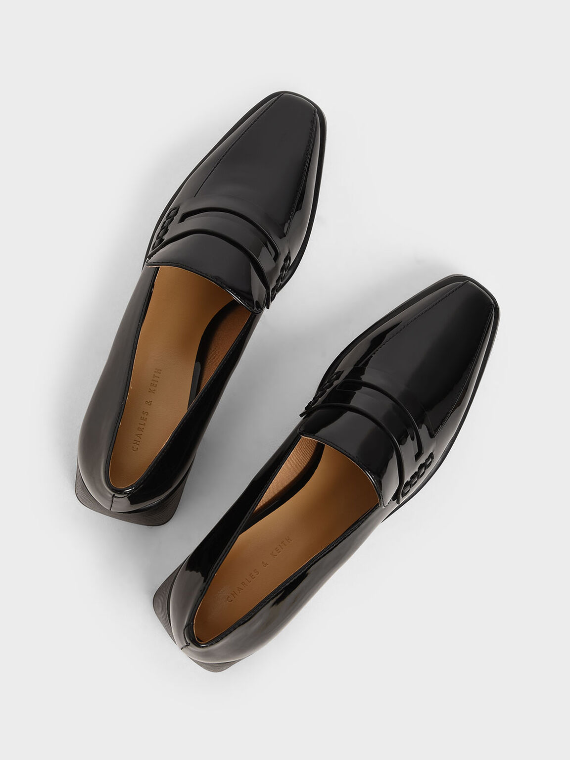 Patent Loafers, Black, hi-res