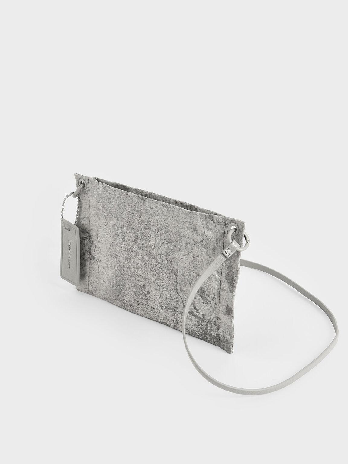 Zip Clutch, Grey, hi-res