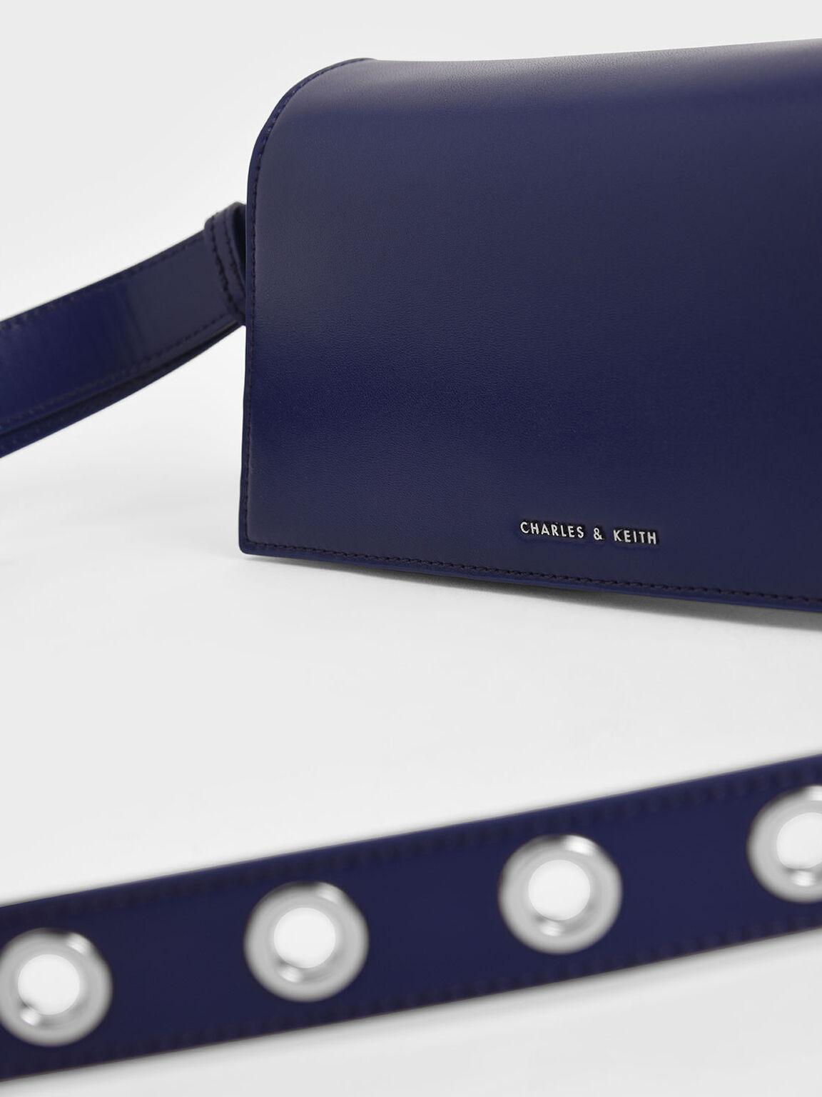 Trapeze Shoulder Bag, Dark Blue, hi-res