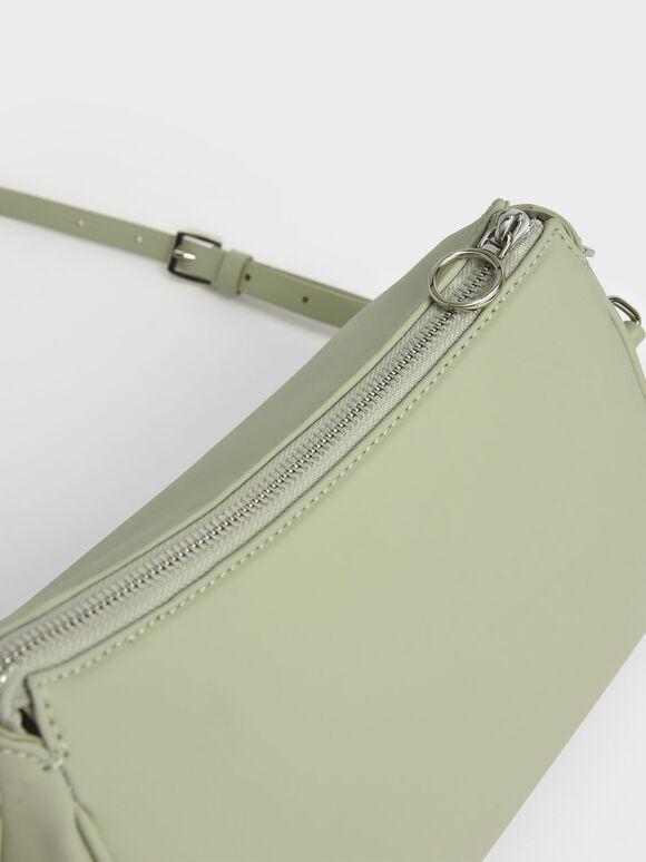 Braided Handle Bag, Sage Green, hi-res
