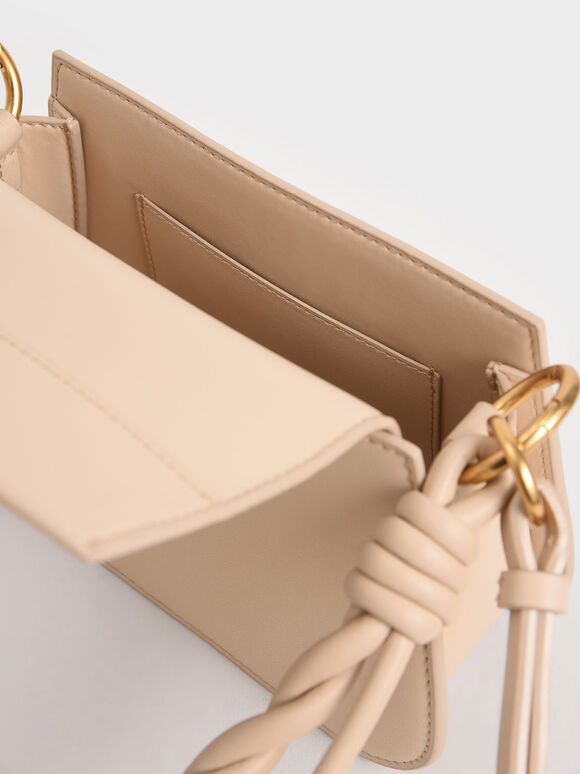 Twist Top Handle Bag, Nude, hi-res