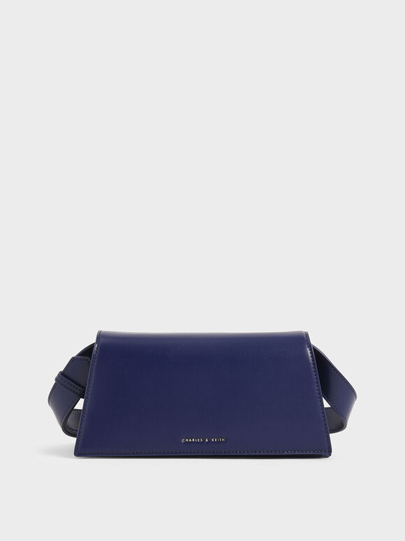 Trapeze Shoulder Bag, Dark Blue, hi-res