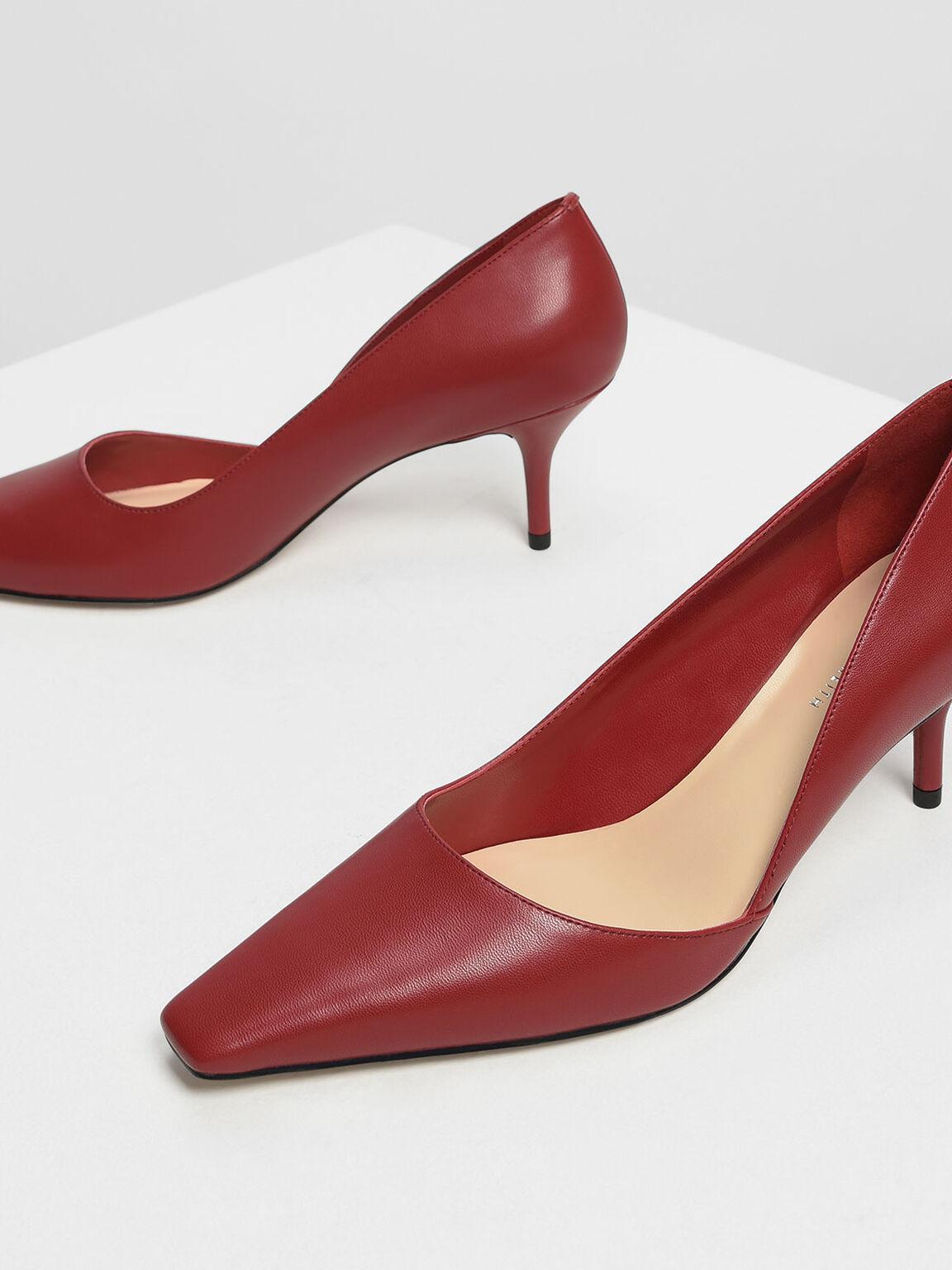 D'Orsay Heels, Red, hi-res
