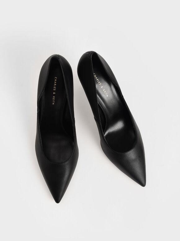 Stiletto Heel Pumps, Black, hi-res
