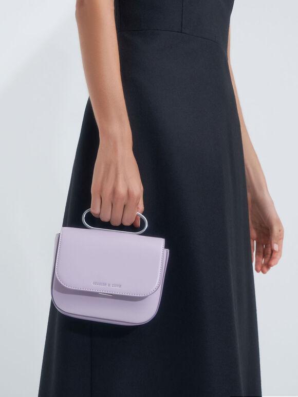 Knotted Wristlet Bag, Lilac, hi-res