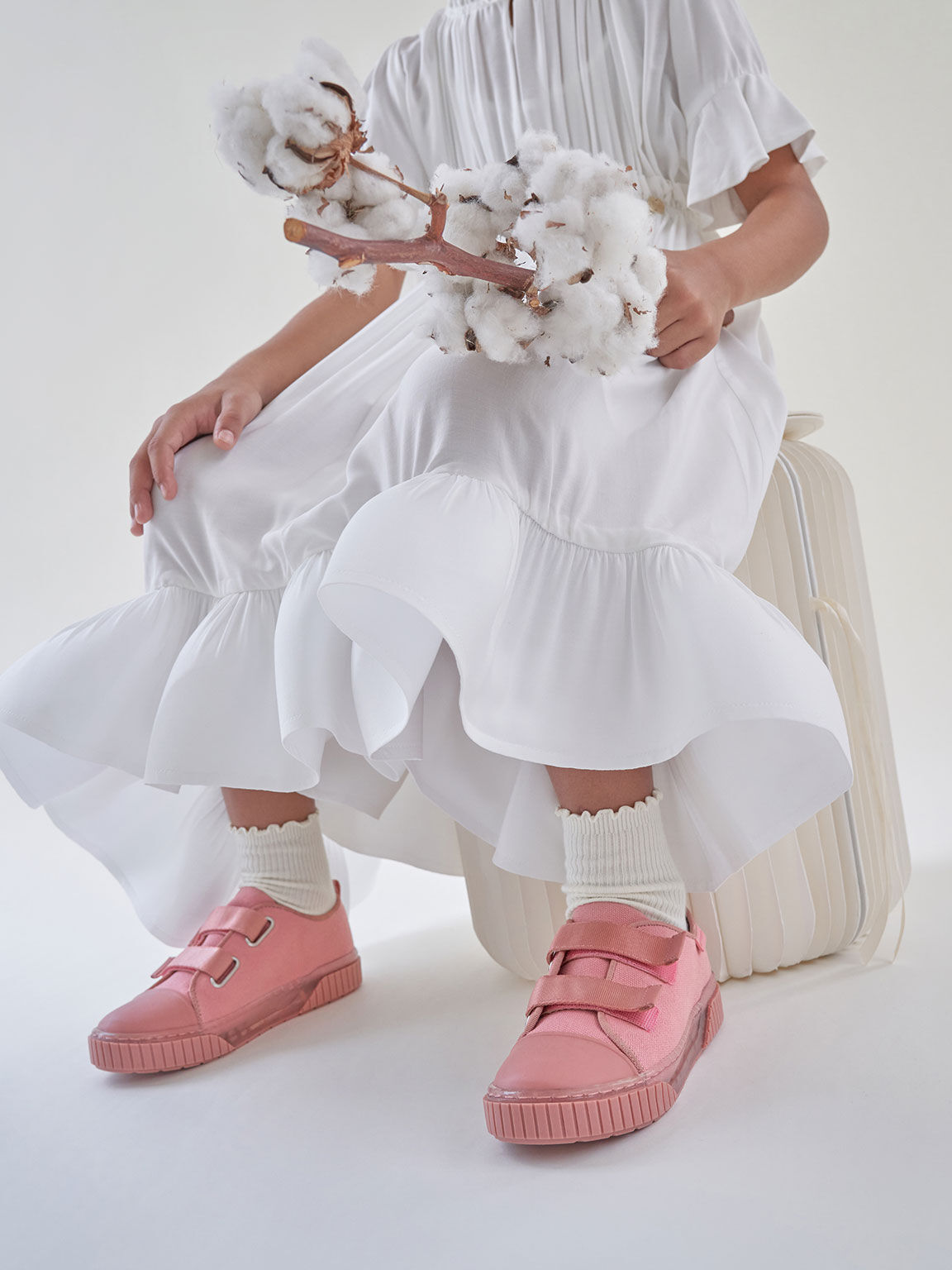 Purpose Collection 2021: Girls' Organic Cotton Sneakers, Pink, hi-res