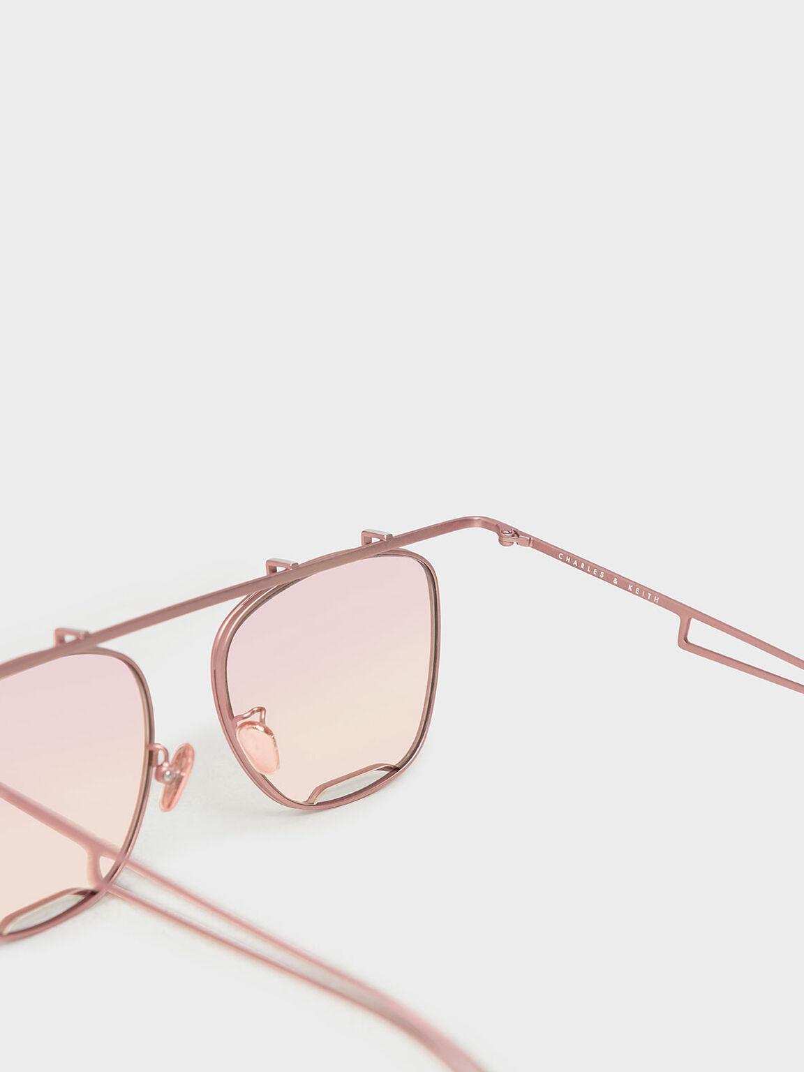 Metal Frame Aviators, Pink, hi-res