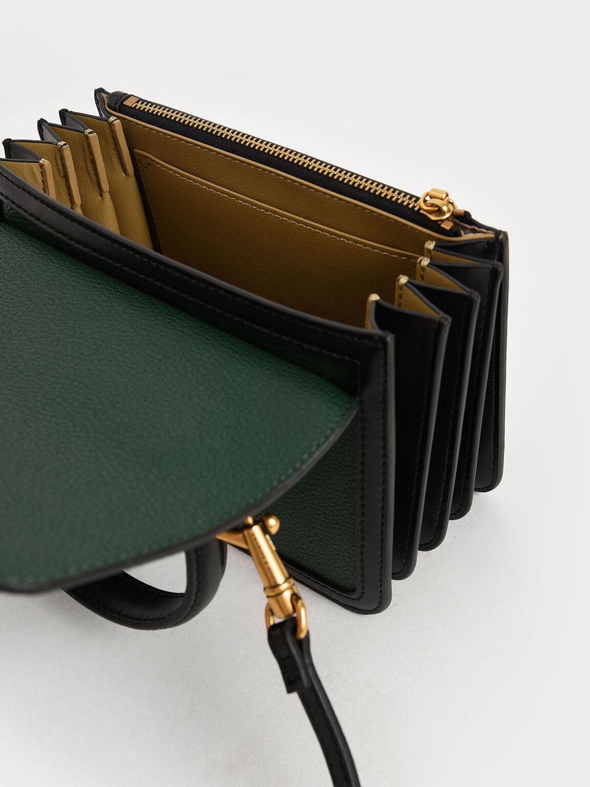 Small Chunky Chain Strap Bag, Green, hi-res