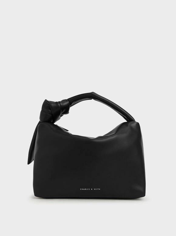 Slouchy Hobo Bag, Black, hi-res