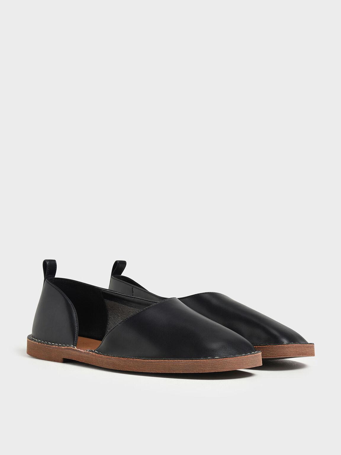 D'Orsay Loafers, Black, hi-res