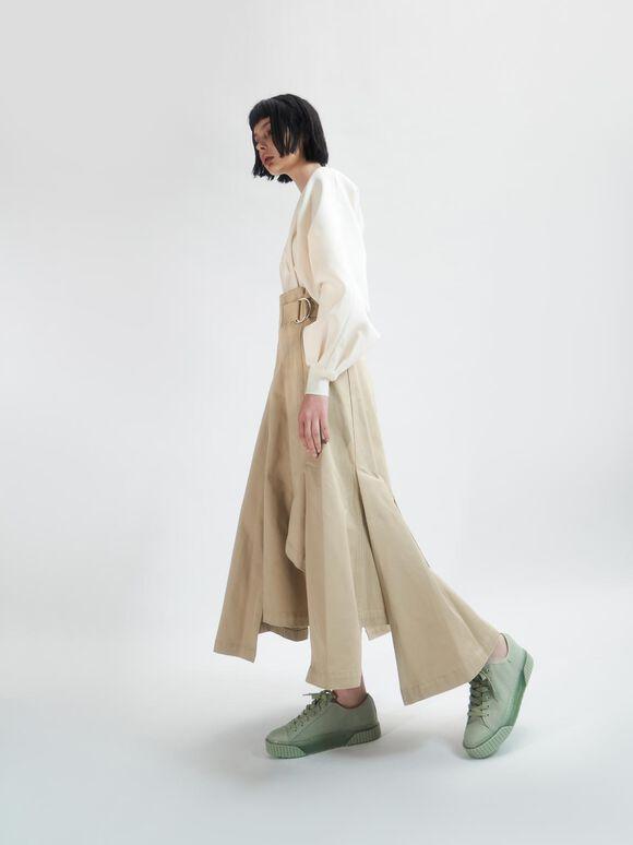 Purpose Collection 2021: Organic Cotton Platform Sneakers, Mint Green, hi-res
