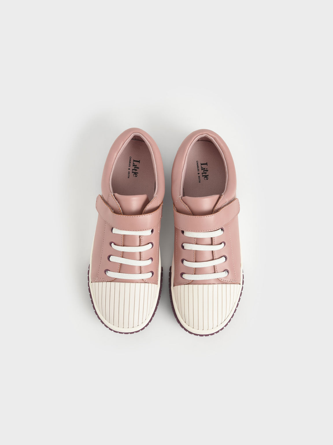 Girls' Platform Trainers, Pink, hi-res