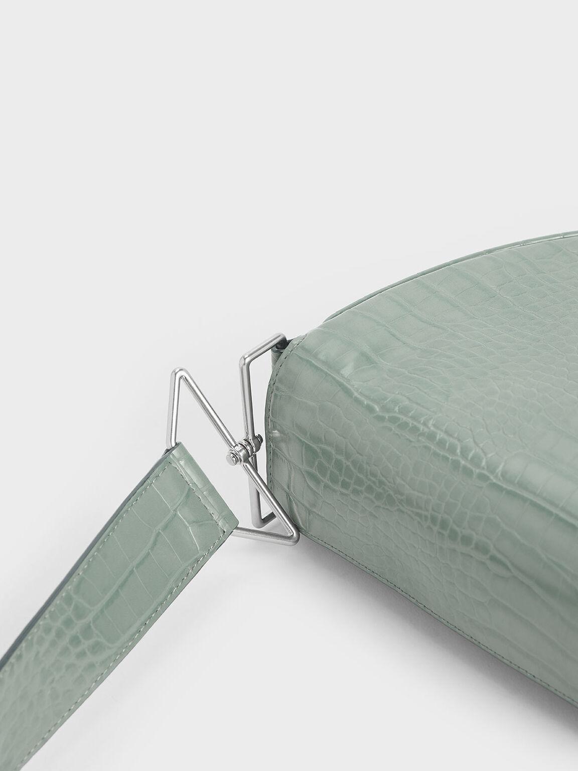 Textured Saddle Bag, Sage Green, hi-res
