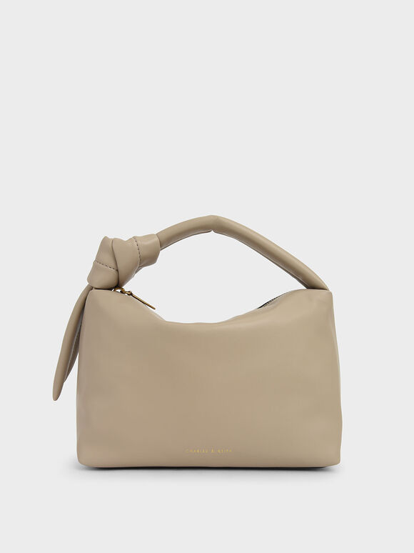 Slouchy Hobo Bag, Beige, hi-res