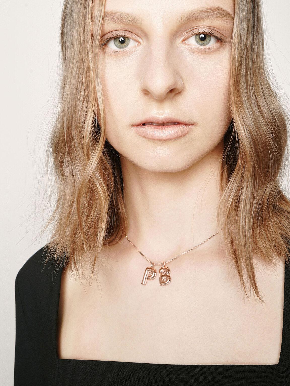 Alphabet 'P' Charm, Rose Gold, hi-res