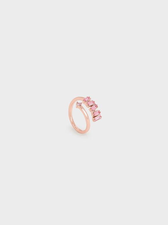 Swarovski® Crystal Embellished Wrap Ring, Rose Gold, hi-res