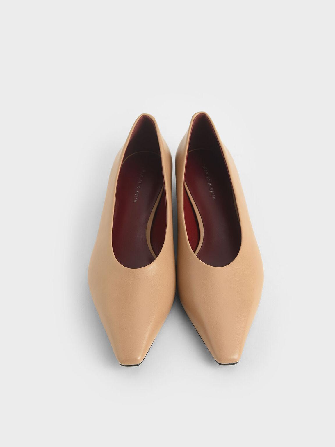 Classic Ballerina Flats, Nude, hi-res