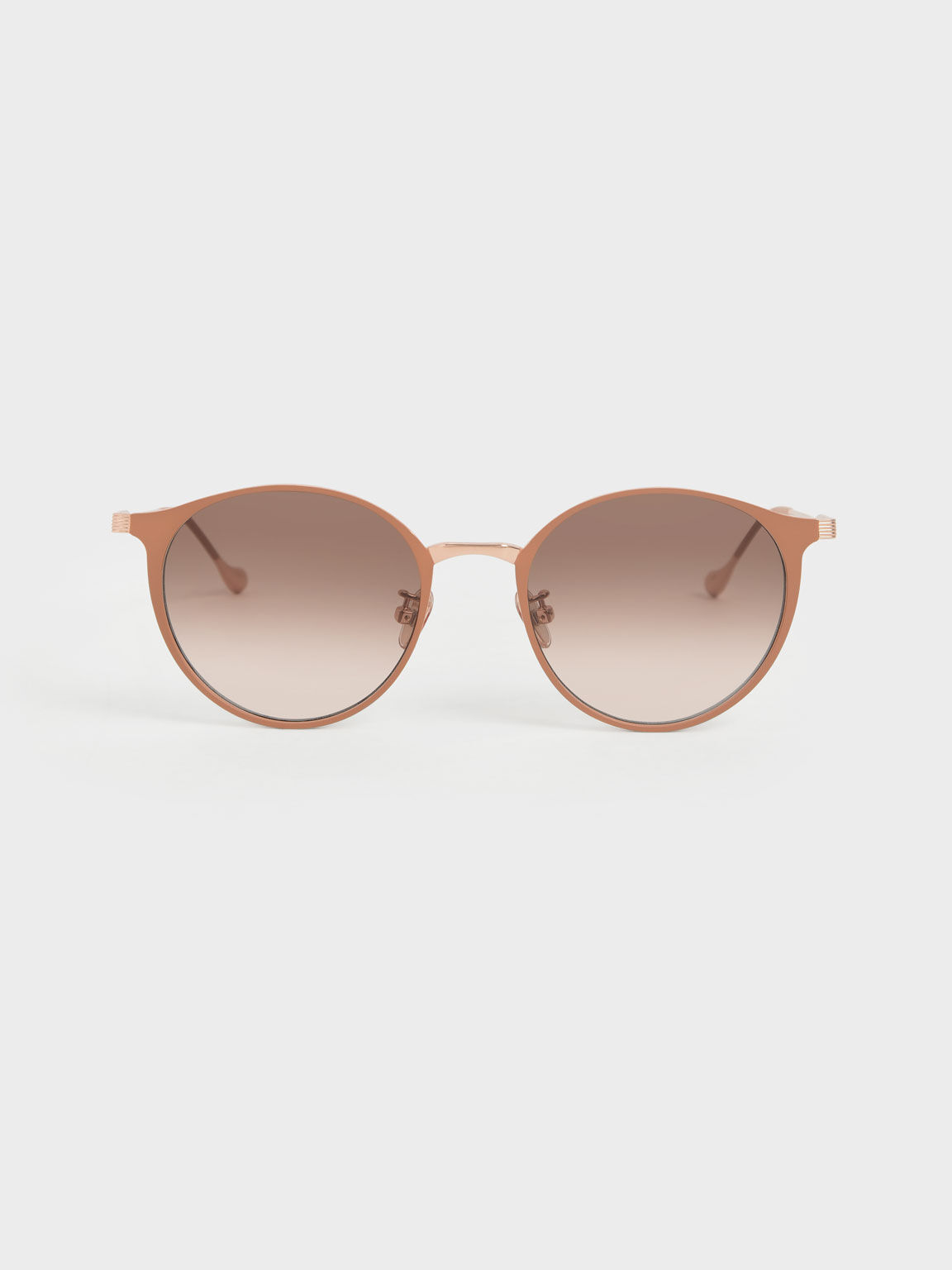 Tinted Round Sunglasses, Pink, hi-res