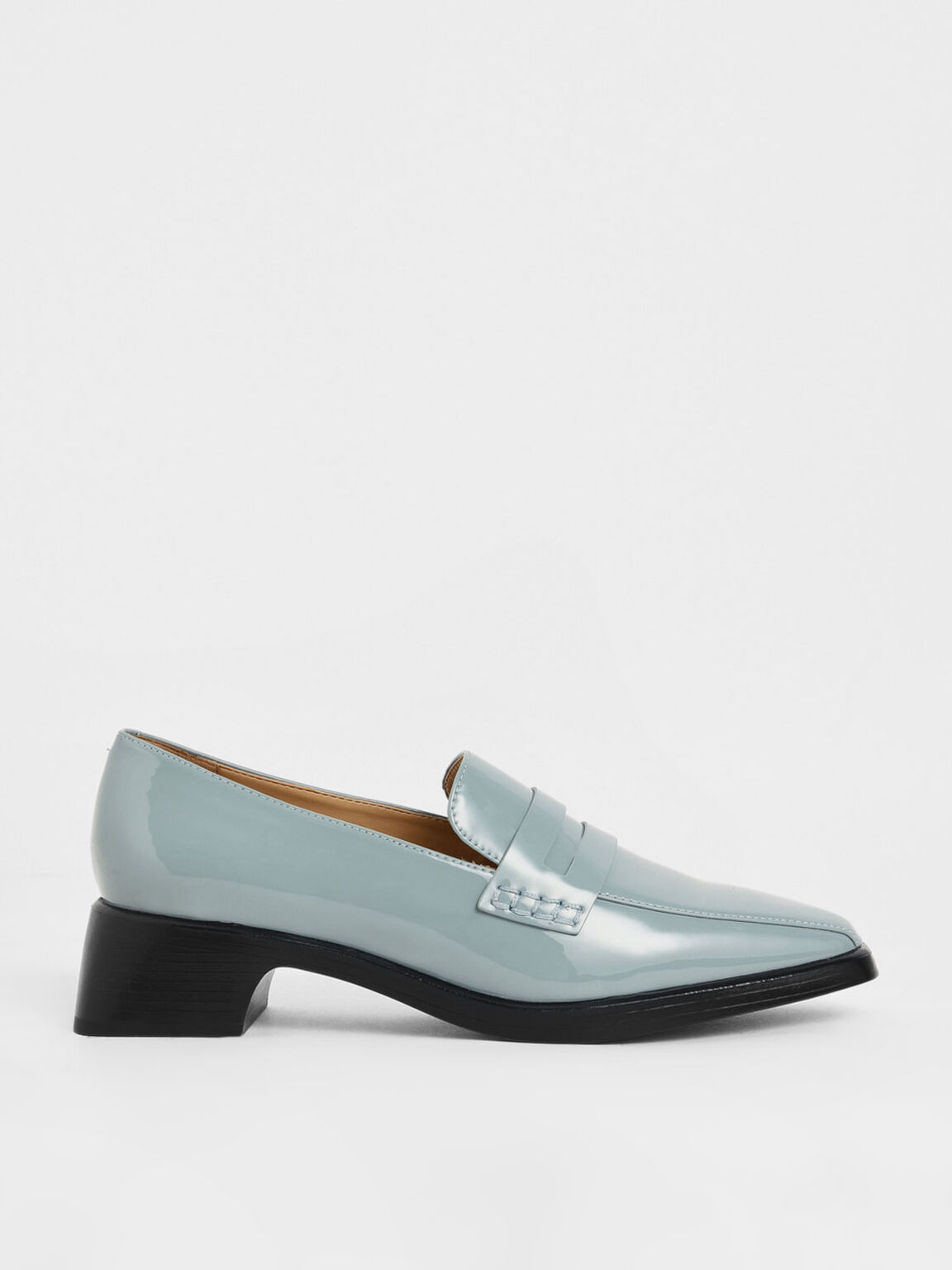 Patent Loafers, Slate Blue, hi-res
