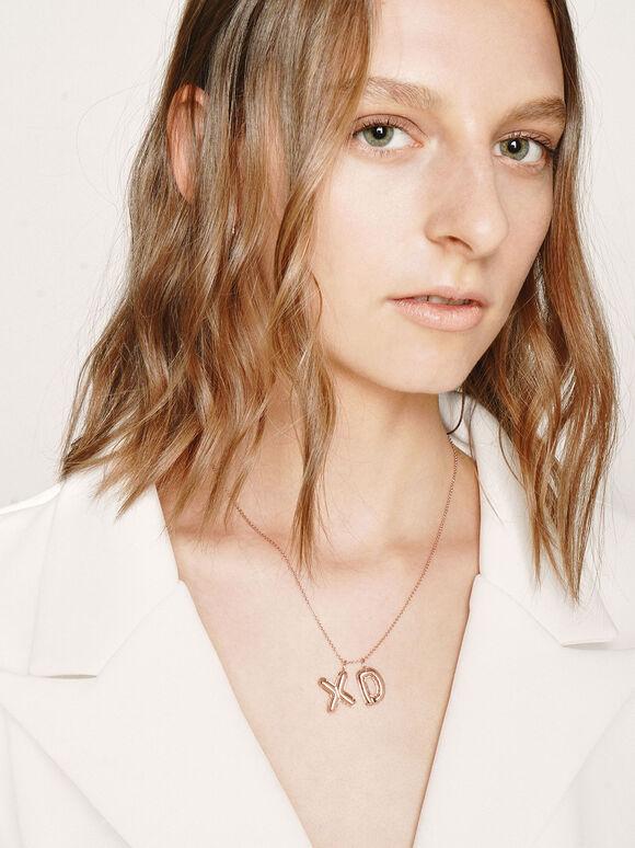Alphabet 'X' Charm, Rose Gold, hi-res