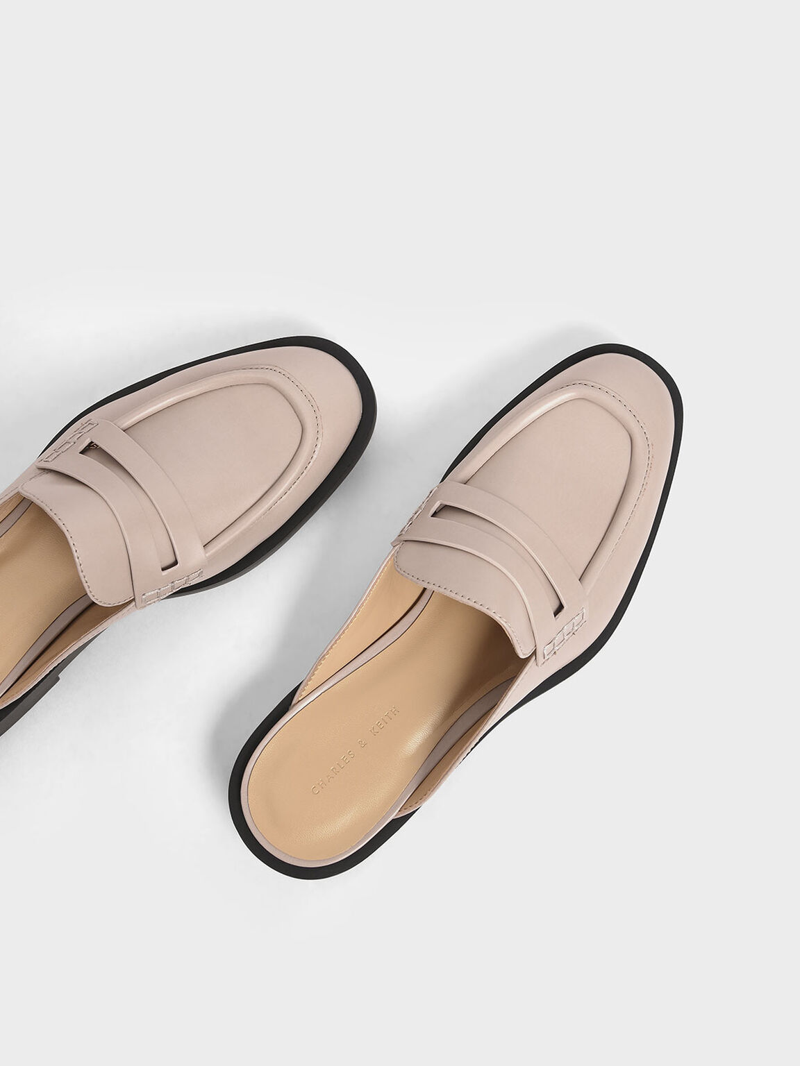 Penny Loafer Mules, Mauve, hi-res