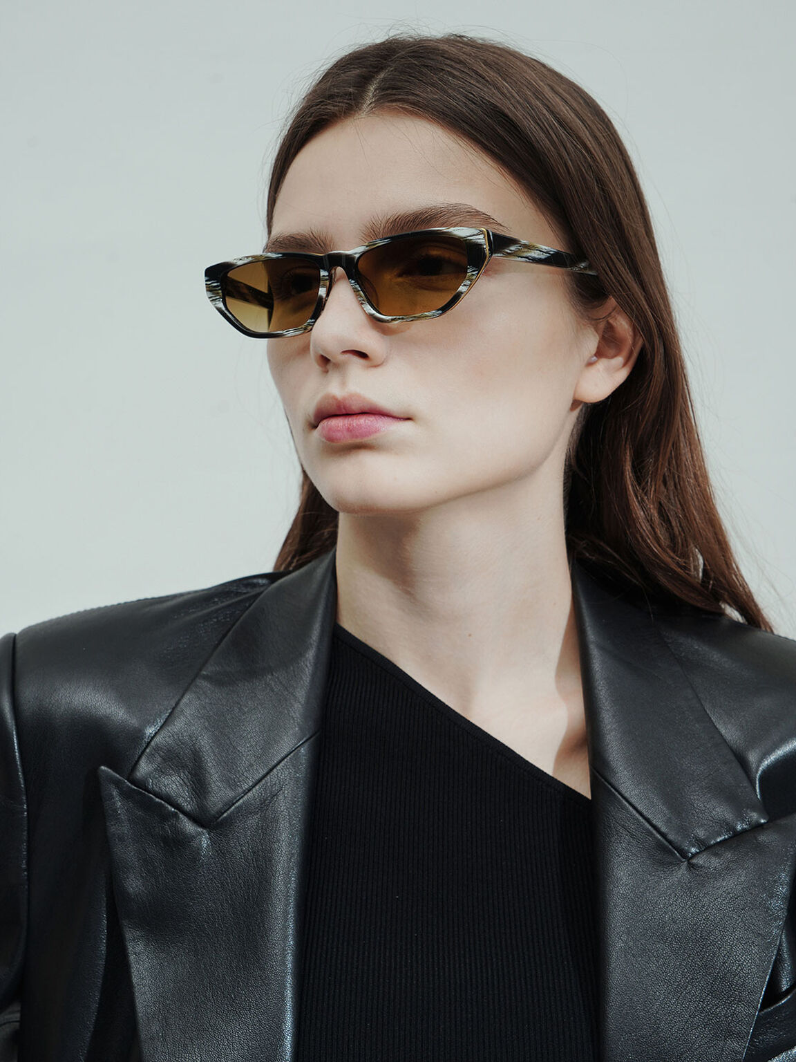 Acetate Cat-Eye Sunglasses, Multi, hi-res