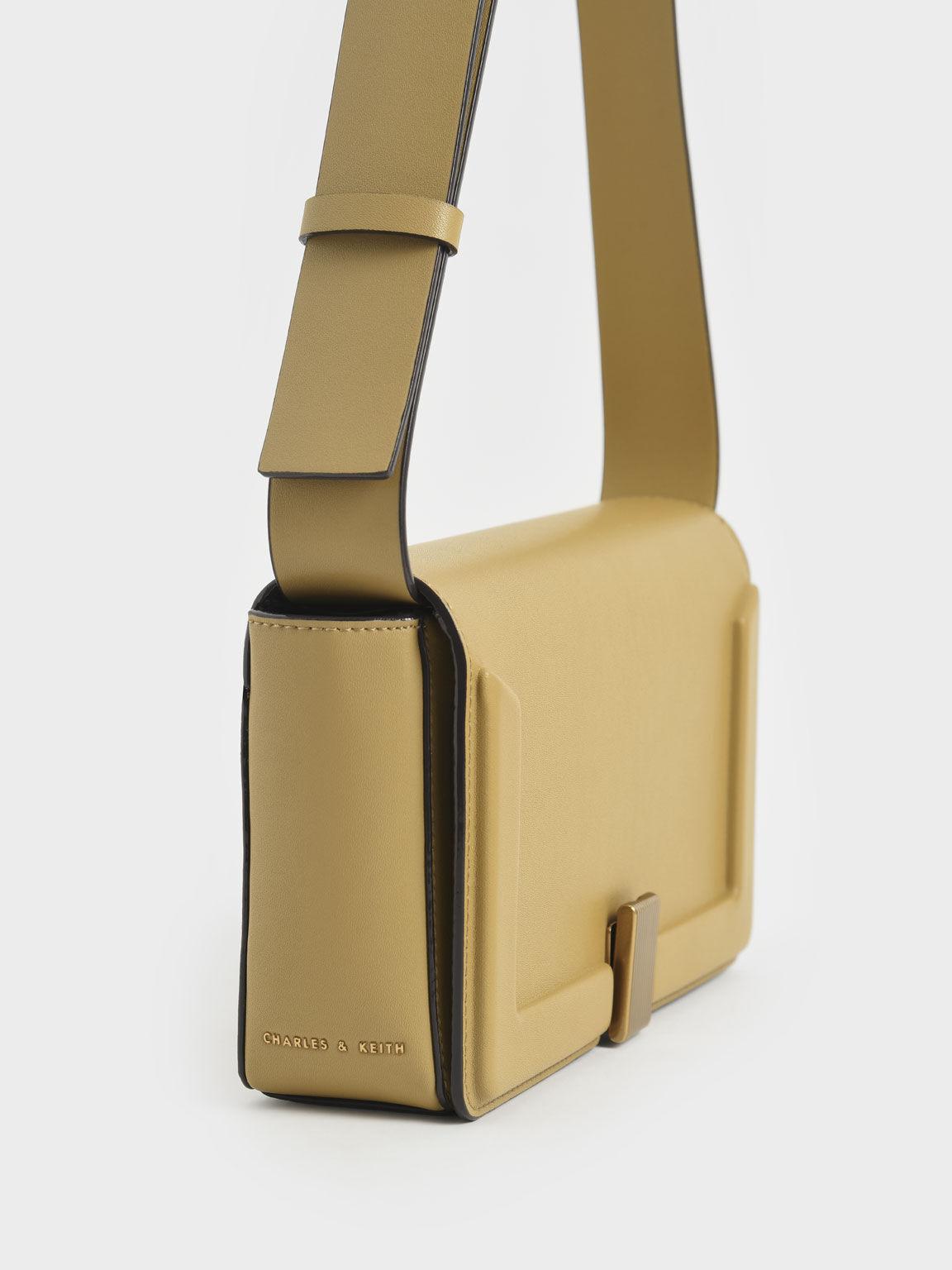 Elyse Turn-Lock Shoulder Bag, Sand, hi-res