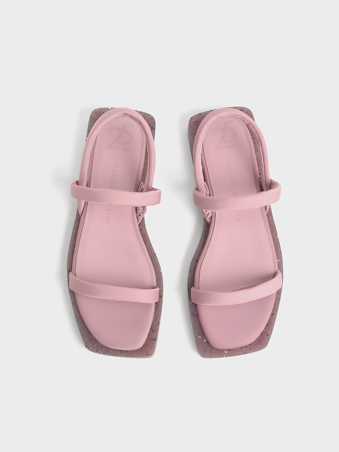 The Anniversary Series: Arabella Recycled Nylon Slingback Sandals, Pink, hi-res